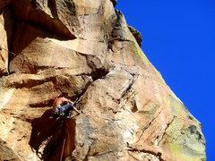 Rock Climbing Photo: John on the second ascent