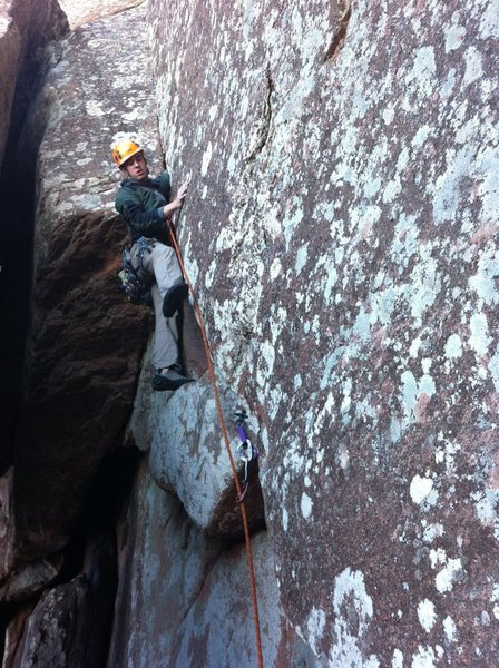 Me having a great time climbing Mild and Wild