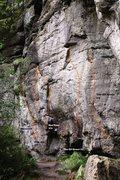 Rock Climbing Photo: The Elf Arete Topo