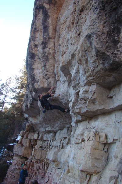 Rock Climbing Photo: Check out the heel hook/toe jam!