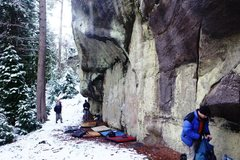 Rock Climbing Photo: The Undercling Traverse Area