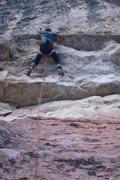 Rock Climbing Photo: Pulling Twin Pipe Poppa's roof.