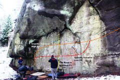 Rock Climbing Photo: Undercling wall Right Topo