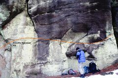 Rock Climbing Photo: Undercling Wall Area Far Right Topo