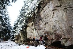 Rock Climbing Photo: Red Rum Area, ever popular as a warm up venue