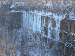 Rock Climbing Photo: Formed Ice as of 1/2/2012