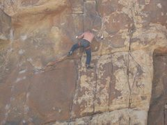 Rock Climbing Photo: First time at Joshua Tree and climbing for that ma...
