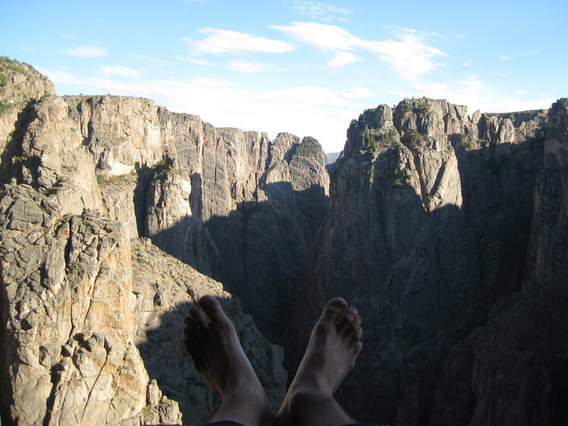 Rock Climbing Photo: life is good in the Black Canyon
