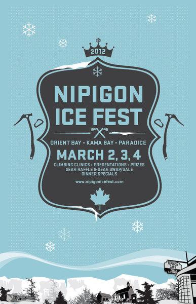 Rock Climbing Photo: Nipigon Ice Fest Poster