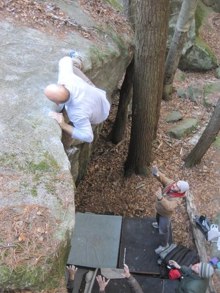 Rock Climbing Photo: in advance of a badly sprained ankle...