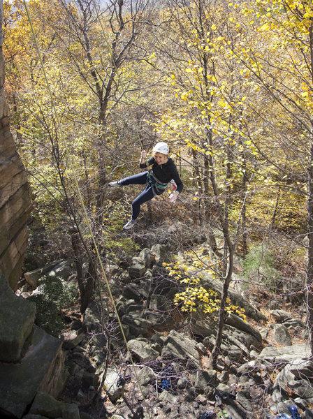 Rock Climbing Photo: Standardized Testing - be prepared for a big swing...
