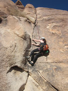 Rock Climbing Photo: Dec. 26, 2012  Erin F. laybacks the first section ...