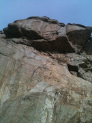 Rock Climbing Photo: The main roof, Kisu's Phat goes right up the middl...