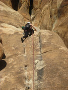 Dec. 25, 2011  Erin F. completes her very first trad lead.