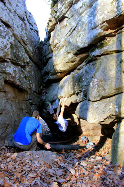 Rock Climbing Photo: Mason Cook sending Pile for the first time.