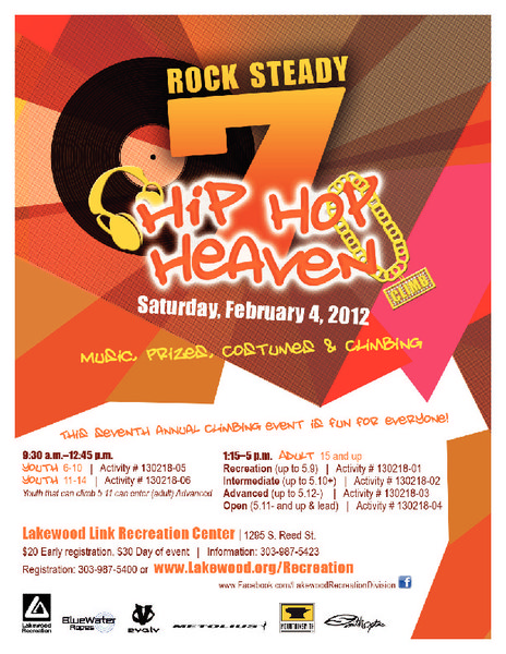 Rock Steady Hip Hop Climbing Competition Feb 4, 2012!
