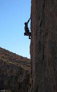 Rock Climbing Photo: Lance Hadfield gets a shake on Clean Slate (5.12-)