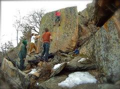 Rock Climbing Photo: Highballin'.
