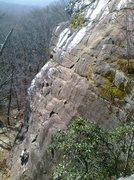 Rock Climbing Photo: Meaghan starting up Boardwalk.