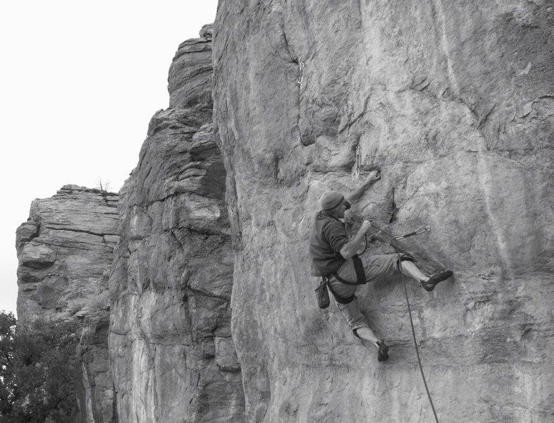 Rock Climbing Photo: 2nd bolt - photo by Pete Piek