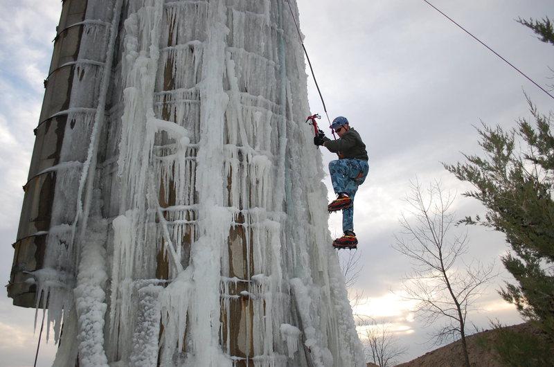 Rock Climbing Photo: Nice Ice!-Joel