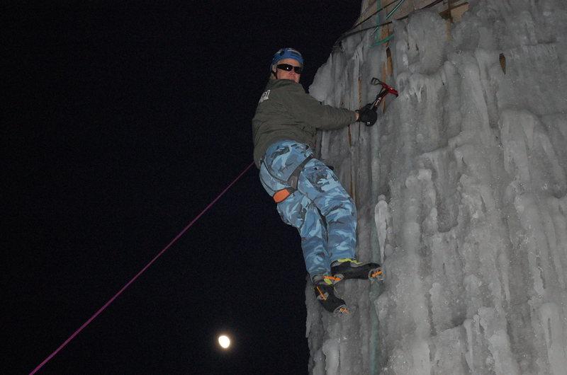 Rock Climbing Photo: Moonlight climbing