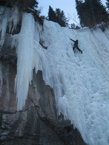 Spiral Staircase - 1st Ice Climb - OnSited and hooked