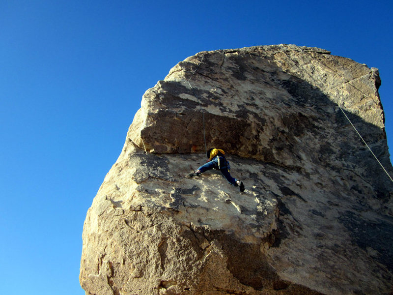 Rock Climbing Photo: 10 yo Noah on the SW corner