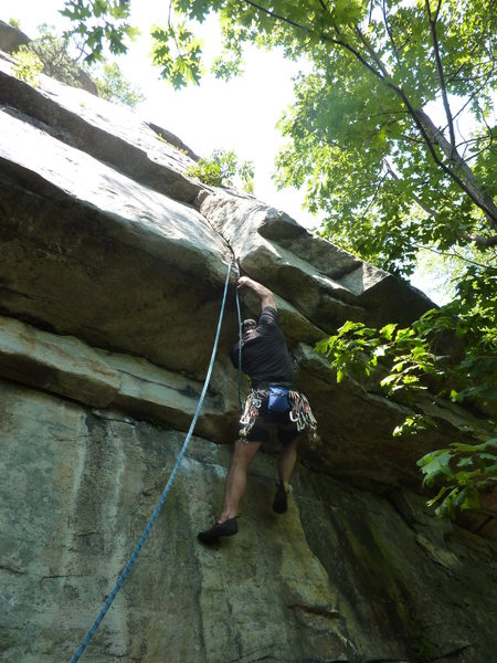 Rock Climbing Photo: about to enter the crux
