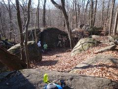 Rock Climbing Photo: Boulders opposite Moby's Dick boulder.  A few good...