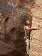 Rock Climbing Photo: Mulva, Winslow Wall, AZ  Dan Schwarz Photo