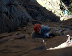 Rock Climbing Photo: Jason S and David D on Sampsonite. He's just benea...