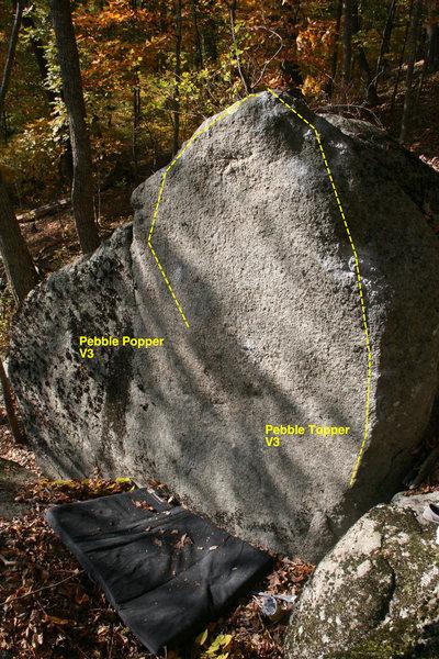 Rock Climbing Photo: pebble back side