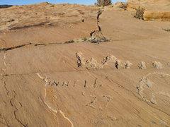 Rock Climbing Photo: Summit graffiti.