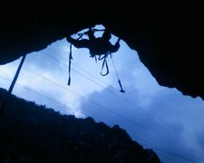 Rock Climbing Photo: about to transition from the RURP to the left unde...