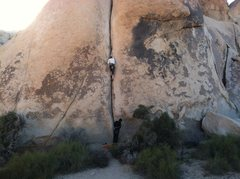 Rock Climbing Photo: Further up, feeling super comfy and having a blast