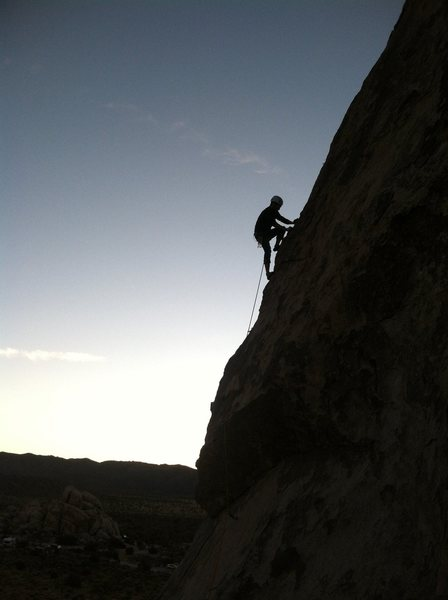Rock Climbing Photo: Jose sillouetted on his third sport lead ever