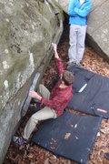 Rock Climbing Photo: MSB starting the classic GS Lowball Cassablanca