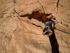 Rock Climbing Photo: the half mantle on pitch 4