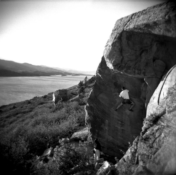 Rock Climbing Photo: Cat's Eye Face. Taken with a Holga.