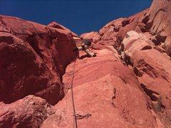Rock Climbing Photo: Tim near the top of Scallop.