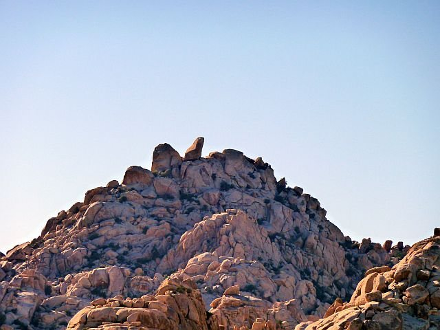 The Ivory Tower from Indian Cove, Joshua Tree NP