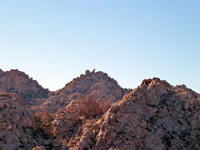 Rock Climbing Photo: The Ivory Tower from high above Rattlesnake Canyon...
