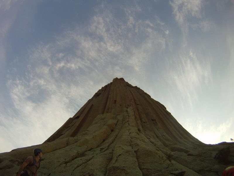 The bottom of the bottom of Devil's Tower in between El Mat and Durrance.