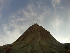 Rock Climbing Photo: The bottom of the bottom of Devil's Tower in betwe...