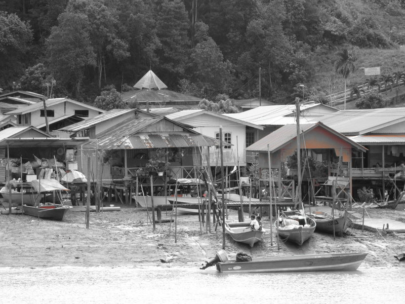 This is the landing where you get a boat out to Bako. They are all friendly Malay stilt villages along the coast.