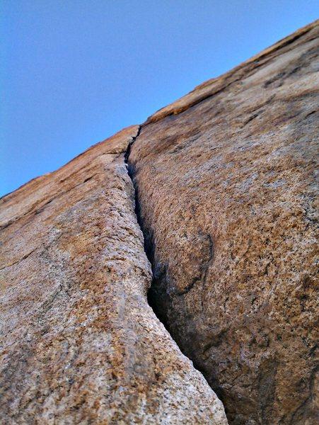 Rock Climbing Photo: Right Crack 5.8
