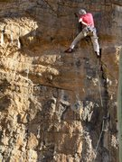 Rock Climbing Photo: Jim on the route.  Draws to the left are '11 Is Ou...