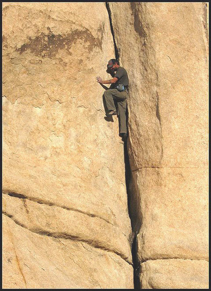 """Rock Climbing Photo: Ammon McNeely soloing """"Damper"""". Photo by..."""