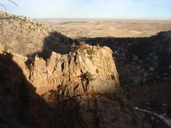Rock Climbing Photo: Last light on the Wind Tower on a beautiful Januar...